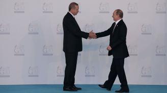Путин и Ердоган разговаряха по телефона