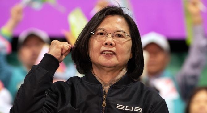 Цай Ингвен бе преизбрана за президент на Тайван