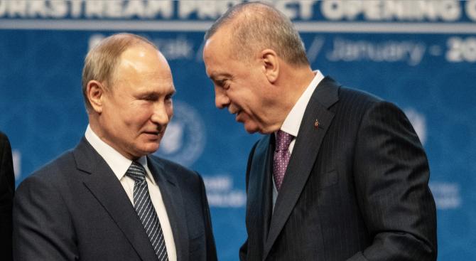 Ердоган и Путин обсъдиха ситуацията в Либия
