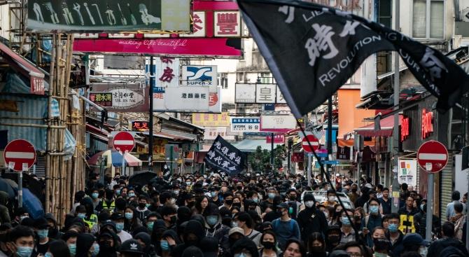 Протестиращите в Хонконг предупредиха тайванците да бъдат бдителни