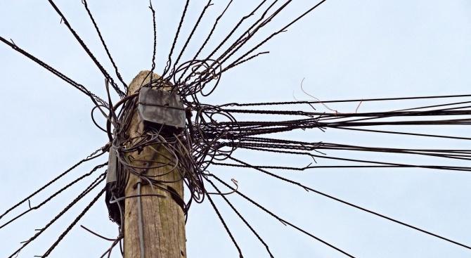 Неизвестен си прибра 200 м кабел от Енерго-про