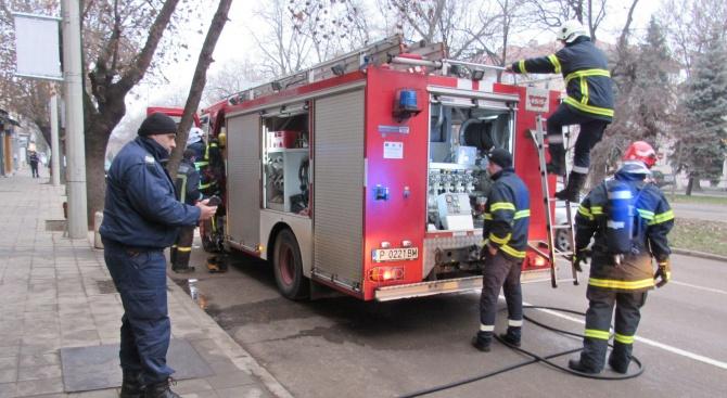 Пожар избухна в кулинарен магазин в Русе
