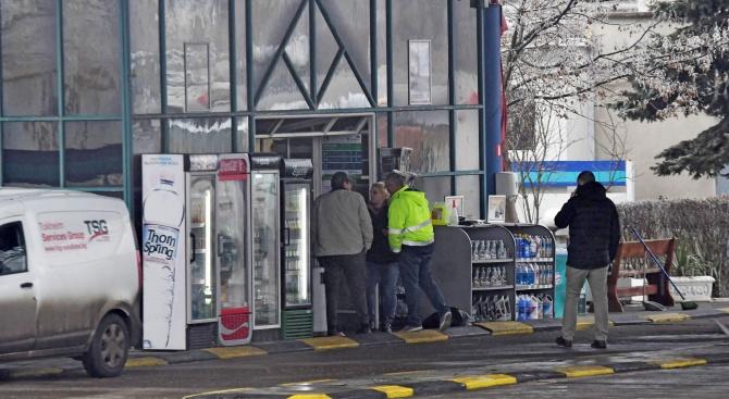 Обир на бензиностанция в София