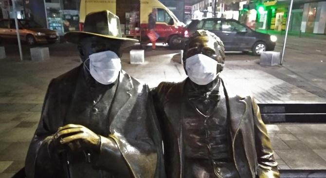 Необичайна арт инсталация се появи на паметника на Пенчо и