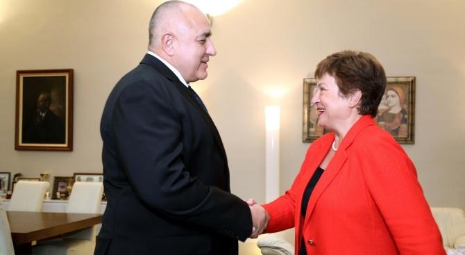 Борисов пред Кристалина Георгиева: България продължава да се развива
