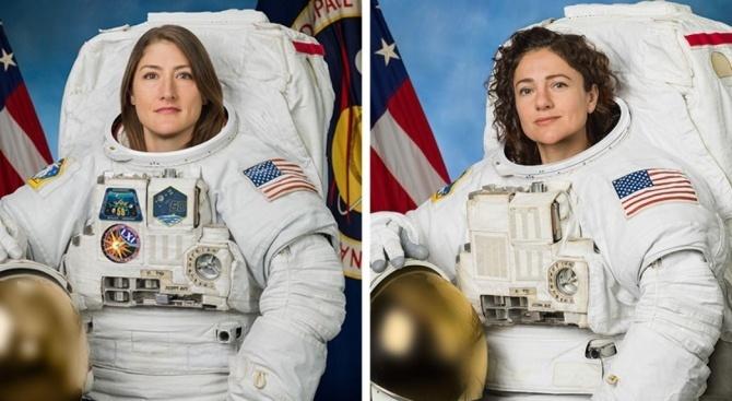 Двете астронавтки от НАСА излязоха в открития космос от МКС