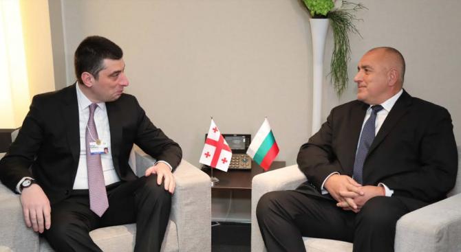Борисов се срещна с премиера на Грузия Гиорги Гахария в Давос