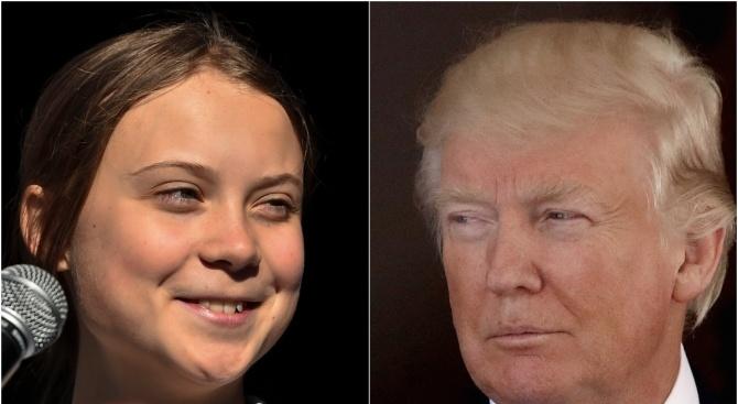 Тръмп посъветва Грета Тунберг да не се фокусира само върху САЩ, а да погледне други страни