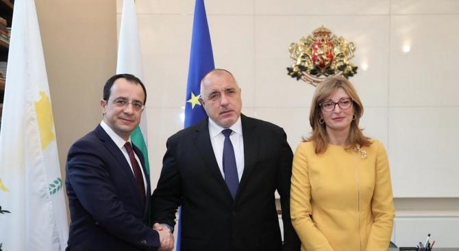 Премиерът се срещна с министъра на външните работи на Кипър Никос Христодулидис