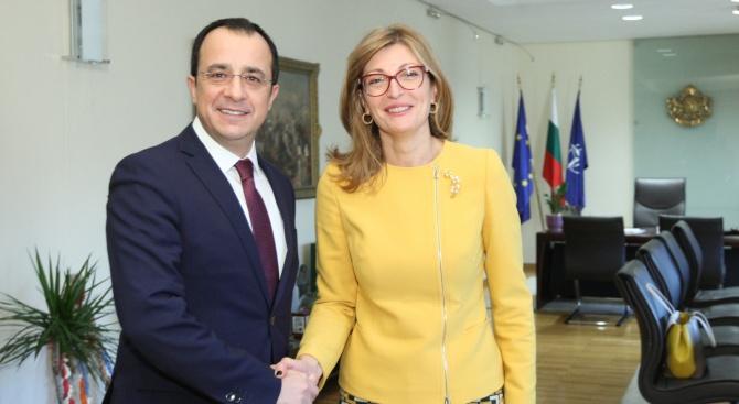 Екатерина Захариева: България и Кипър споделят много общи ценности и интереси