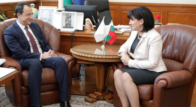 Задълбочаването на парламентарния диалог между България и Кипър ще помогне