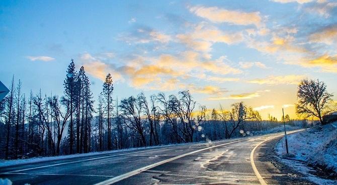 НИМХ обяви жълт код в понеделник за хлъзгави пътища и