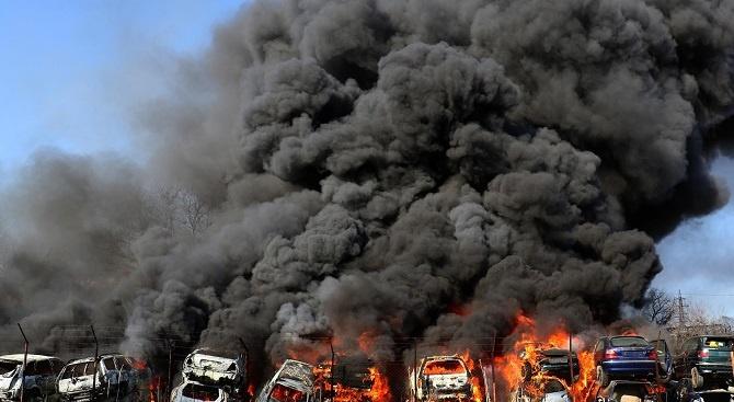 Автоморгата в Хасково, която вчера горя, вероятно е работила незаконно.