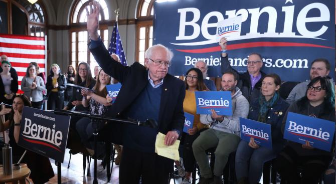 Бърни Сандърс се откъсва в номицаиите на демократите за президентските избори
