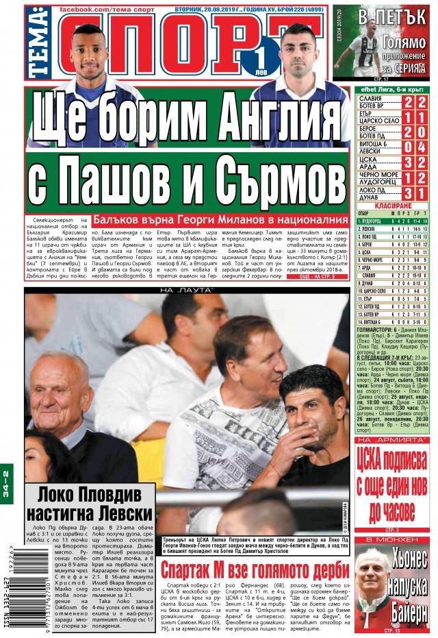 Тема спорт: ЦСКА подписва с още един нов до часове