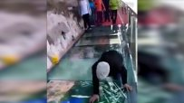 Стъкленият мост в Китай се пропука под краката на туристи