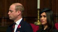 Принц Уилям заспа до Меган Маркъл в църква
