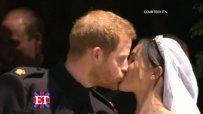 Първата целувка на Хари и Меган като съпруг и съпруга