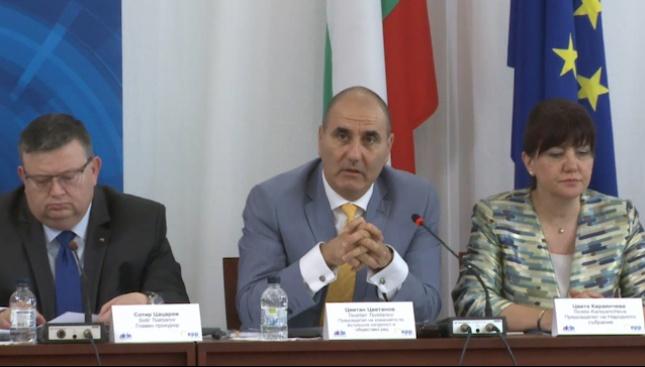 Цветанов: За сигурност и тероризъм в парламента говорим на един език