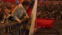 Руският флаг се развя на протестите в Скопие