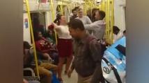 Скандал между мъж и жена в метрото прерасна в масов бой