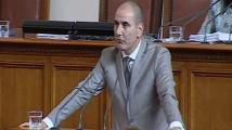 Цветанов: Благодаря на БСП, че за първи път внесоха вот за намерения