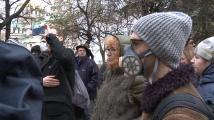 Протестиращи пред Столична община искат по-чист въздух в София