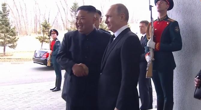 Владимир Путин: Радвам се на срещата с лидера на КНДР