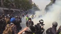 Сблъсъци между протестиращи и полиция във Франция в Деня на труда