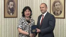 Румен Радев връчи президентски плакет Св. св. Кирил и Методий на СБЖ