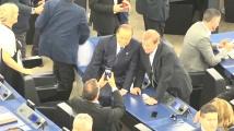 Посрещнаха Силвио Берлускони като звезда в ЕП