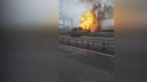 Руска ТЕЦ пламна. Огнени езици достигат 50 метра
