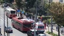 Автобус гръмна в Белград. Има ранени