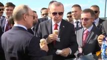 Владимир Путин нахрани Реджеп Ердоган