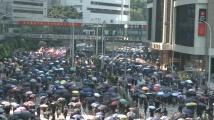 Черни знамена се развяха в Хонконг