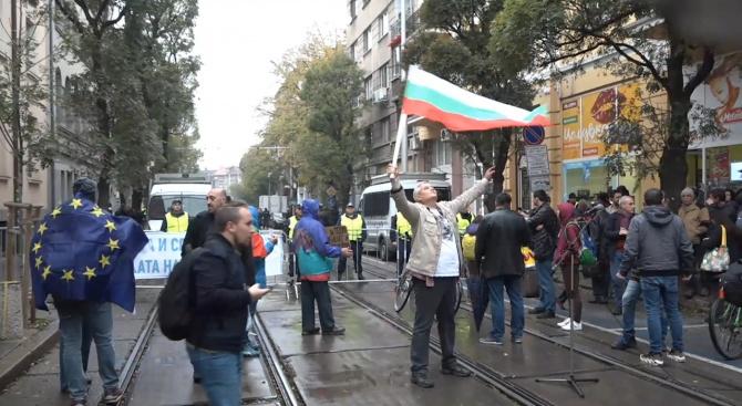 Протести за и против Гешев пак блокираха София